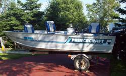 14' Princecraft Springbok Pro Series 142 boat with Shorland'r trailer. 2011 Evinrude 30 E-tec motor with 10 hours on motor and full transferable warranty until Feb. 2013 and factory warranty until Feb. 2015. Also 2011 APS 4 hp motor, new Eagle Fish Mark
