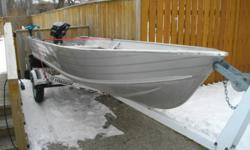 1992 Princecraft Scamper 14'  aluminum boat, 1992 Mercury outboard motor - 8 hp, tuned up this past summer (new spark plugs, prop seals and gear lube)and 1992 EZloader trailer.