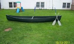 14ft canoe comes with two paddles. Needs seats. asking 275.00 o.b.o.