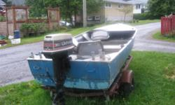 14ft mirrocraft skiff, 25hp motor and trailer for sale in Prince Rupert, BC.