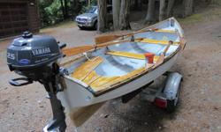 I bought this rowboat in 2008 with two sets of solid spruce oars with leather collars. It was second hand - not sure what year - I paid $4,000. I have enjoyed rowing it on Shawnigan Lake for eight years. It is in fair condition and will give years of