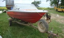151/2 ft boat w/ trailer with 70 johnson motor like new, new power trim installed last year with full service of over $2500.00 alone ,boat repainted 1 years ago $1500.00,easy load trailer new spare,  battery,has biegle pump,horn,lights,radio with newly