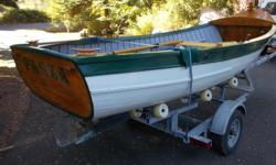 15'6 caravel planked cedar boat ,yew ribs,gumwood keel,Honda 5 hp inboard engine, hurth transmission, built in 1996 . excellent condition $3500 obo