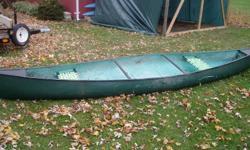 15 foot fiberglass canoe. new seats no leaks good shape $265 541 0079 or  312 0286