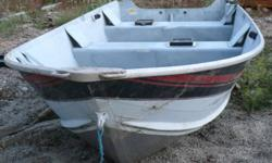 15 ft Smokercraft Deep long shaft Aluminum Boat comes with removable seats and rod holders $1800.00 O.B.O. Great shape.holds up to a 40 hp engine.