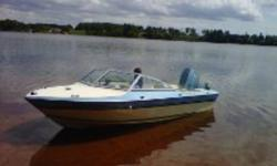 15' fully fiberglass speedboat. great shape, powered by 65hp with power trim.  new steering cable. Fishfinder and depth sounder. speedometer.Workes excellent. sails really nice and is a fun little boat. Galvanized Shorelander trailer included with warn