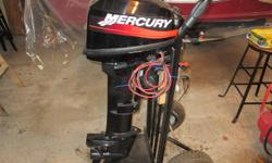 For Sale ...2001  2 Stroke Mercury 15 hp Outboard , electric start, long shaft in excellent condition,  dealer serviced and ready to go, willing to trade plus $$$$  for a good 25hp.   (no junk)  Asking $1800.00 519-881-2416
