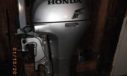 15hp Honda Fourstroke Motor. Long Shaft. Tank and hose included.  Great shape. Low hours.
