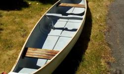 Hello, I am selling my 16' Frontiersman Canoe. It is great on the lake or ocean. It is made of fibreglass. Has some scratches and dings but no leaks. It is keeled so it glides well and straight. I've used it for fishing and exploring the coast and lakes.