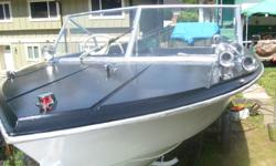 16.5ft thermoglass boat and good trailer with reg.boat has new paint,deep v .good seats sleepers,steering,kicker mount,all you need is a motor and catch some fish.PRICE REDUCED $900 FIRM,NO PAYPALS swap for ranger ext cab 6cyl.auto .call 7783206101