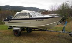I have a 16 foot aluminum boat with canopy, 70 EVINRUDE motor and trailer. Also come with bilge pump and fish finder. Power tilt Asking $3800 ONO NO TRADES!