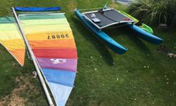 16 Foot Hobie Cat for Sale (1970's) This boat is in excellent condition and has constantly been upgraded. New trampoline and sail bag (2014) . New paint on hull (2013). New Rigging (2014). New Sails (2012). There are also lots of official Hobie spare