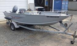 2007 Smokercraft Lodge 16 ft Aluminum Boat (very deep and wide) 2007 Yamaha 40hp four Stroke outboard. Galvanized bunk trailer with folding tongue, bunk guides, and oil filled hubs As new condition. Very little use. Garage kept. Complete with navigation