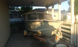 Nice clean open bow boat 30 hp travel tarp and convet top