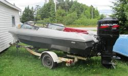 Glascon 1979 Motorboat Model 155XS New Mercury 115 hp motor (approx 60 operating hours) EZ Loader trailer 1979 Boat is located in McKay's NL Looking for possible trade on pickup of equal value. $6000 OBO Contact David (leave message) 7096452797 home