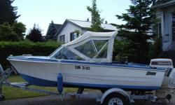 Hourston Glascraft with 60-HP Johnson in good running condition. Hummingbird depth sounder - two rod holders, no trailer but we can trailer it to your spot.