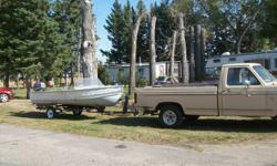 FOR SALE...COMPLETE PACKAGE DEAL!!!!1983 F150,16' STARCRAFT BOAT,MOTOR AND TRAILER.PD 1100 FOR MOTOR AND ONLY RAN 1 TIME.EVERYTHING IN GOOD RUNNING ORDER.TRUCK IS NIOT SAFTIED.  2500.00 TAKES IT ALL AWAY.  EMAIL mailto:msthomas@xplornet.ca