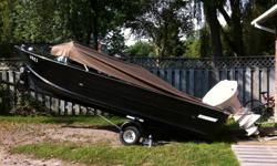 this boat is older but runs like a top and really good on gas for some reason it has a 60 hp evinrude 4 cyl motor in good shape runs good looks good. trailer in great shape and boat in good shape inside will need a little work like seats if you want they