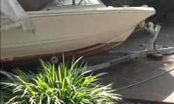 16ft Double Eagle 1982 with hard top & S/S ski post c/w 2012- 75hp computerized E-TEc Evinrude motor with S/S propeller 2014 Roadrunner trailer (used only once)