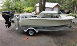 Many upgrades in the last 5 years : New Transom & Floor re-glassed - New Transom OB Bracket Updated Power; 70 Suzuki 4 Stroke + 6 HP Yamaha Kicker 4 Stroke Trim Tabs - Cabin Heater - Defroster Fan - Lowrance - Two Way Radio - Dual Batteries - Rod Holders