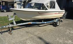 16' Markell Fibreglass Boat 1994 50hp outboard 4 stroke (always ran in fresh water after salt) has electric tilt (2004) 6hp kicker (recently serviced) (2001) 4 stroke Both motors lined in to same tank. 1997 Canadian Highlander Trailer, no rust has spare