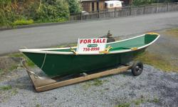 "A classic 16ft Gloucester Gull rowing dory for sale . Designed by Harold ""Dynamite"" Payson Professionally built in 2010 by master shipwright and constructed from 3/8"" ply. Two rowing stations and oars. See excellent write ups in Wooden Boat website."