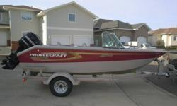 Excellent fishing boat, 115 mercury optimax engine, live well, 24 volt bow trolling motor panel, approx. 40 hours on this boat, mint condition. Replacement cost - approx. 31,000
