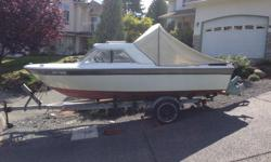 17' Campione. 160 hours on rebuilt engine, new exhaust manifold, new steering cable, spare prop, life jackets, road runner trailer, runs great. 2500 OBO.