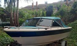 Newer canvas and upholstery two deep cycle batteries built in fuel tank marine stereo waterski bar walk through windshield kicker bracket life jackets fenders 2x spare propellers motor runs well boat and trailer are licensed with papers $2250 obo Roger