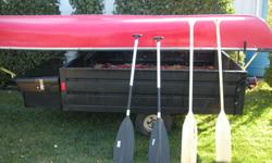 Hello, I have a 17.5 foot explorer dlx  canoe  in excelent shape. comes with 4 paddles 2 of wich are brand new and only used twice.   please,E-mail, text or call to set up viewing....brent. NO TRADES           500.00  OBO.....thank you.....   trailer not
