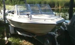 140 hp 4 cylinder inboard/outboard well cared for boat. Motor was been replaced less than 100hrs ago. - new starter - carpet & seats replaced - hummingbird fish finder, Comes with trailer. $2500 O.B.O.