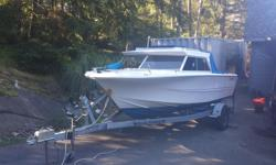 17.6 Double Eagle with 115hp Mercury (about 100 hours on it) and 8hp yamaha Kicker. 2012 Roadrunner Trailer Boat had new transom installed in 2012 as well as new welded aluminum fuel tank and complete floor. Mid 1990's 115 Mercury was rebuilt last summer,