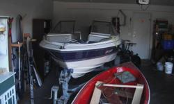 We have a 17 Foot Bayliner for sale. The selling price includes an Escort trailer which came with the boat. We are the second owners of the boat. 70 horsepower Mercury Force engine that needs some fixing. Will start but turns off when on neutral. This