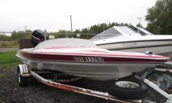 Sharp looking 17 ft boat with a 100hp mercury engine. Runs good and in good shape! Boat and trailer for $4400.