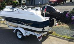 Really nice 2003 bow rider with a 115 horse 4 stroke, comes with ez loader trailer, tarps, skis, life jackets , stereo, etc. etc. We just don't use the boat enough.