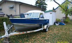 1989 17' Lund....deep wide....in excellent condition. 2 fish finders, electric trolling motor, cd/am/fm stereo w/ 4 speakers, 1 live well, rod holder and stainless steel prop.  Motor is a 75 four stroke Yamaha with approx 75 hours on it. Comes with boat