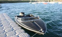 1980 firberform 17' speed boat it has a 2 stroke evenrude 140hp outboard motor runs great lots of power can pull skiers or tubs with no problem when at full throttle boat is level in the water the bow isn't way up in the air dose 70 km on the water comes