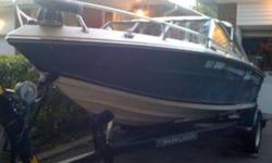 17' SYLVAN BOW RIDER FIBERGLASS - DEEP V GREAT FOR FISHING OR WATER SPORTS BLUE AND CREAM WHITE COLOUR 3.0 LITER 140HP OMC INBOARD MOTOR COBRA OUTDRIVE (REBUILT IN JAN 2011) POWER STEERING APPROX. 200 HOURS WOT = 53 KM/H INCLUDES: SHORELANDER TRAILER DUAL