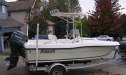 This is a Center console183 Angler  2008 never been in salt water less than 10 hours in the lake Just like New    New this boat is over 30.000