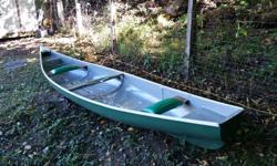 """This canoe is so stable that 2 men can stand while fly fishing no problem. This canoe carries 1250lbs. Not bad for a boat you can carry by yourself. You can pack a moose in it! It's very beamy at 45"""". The middle seat holds 3 small children. It glides"""