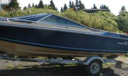[Come Make an offer don't want to store it  for winter.] 18 ft Wellcraft 180 bowrider . (GOOD ON GAS ) 4 cyl OMC inboard . 400 OMC Stern drive .KARAVAN classic trailer ,hull isfactory fiberglass and in good shape , boat has a fishfinder , compas , power
