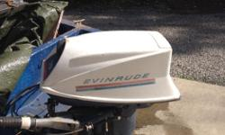 18 HP Evinrude Motor is on a boat that was going from Nanaimo to one of the islands alsmost daily. Motor runs great last time in water. I'm Is on a project boat right now and needs repairs to the transom and new floor skin. (I have already prepped the