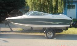 1996 Larson 18' with powerful 4.3L LX MerCruiser for sale. Open Bow, lots of room and power. Great family / ski boat. Comes with heavy duty Caulkins trailer. Great shape, runs perfect. Can try out on lake no problem! $8300 firm. May also trade for RV of