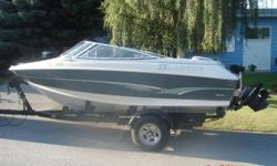 **SEASON SPECIAL**1996 Larson 18' with powerful 4.3L LX MerCruiser for sale. Open Bow, lots of room and power. Great family / ski boat. Comes with heavy duty Caulkins trailer. Great shape, runs perfect. May trade for motorhome of equal or lesser value.