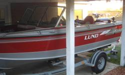 1998 - 18' Lund Tyee & Load Rite Galvanized Trailer with new bearings. Yamaha 115 motor + a 2006 Yamaha 6hp kicker motor & tank with steering connections. Canvas roof, snap on summer cover and winter storage cover. 2 batteries, 4 moveable bucket seats,