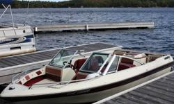 Moving MUST SELL!  In excellent condition. New upholstry, carpet, cover and bimini top in 2010. 130hp Mercruiser - fantastic on gas. Located on Lake Muskoka near Port Carling. Come take it for a spin!