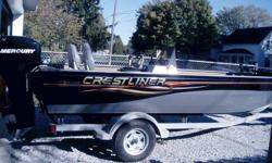 2007 18 Ft Crestliner with 50hp 4 stroke Merc...Comes with Garmin fishfinder, bow mount trolling motor and pop up duck blind.. Galvinized trailer with swing tongue. Package in great condition, stored indoors