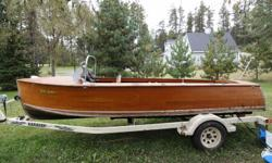 For sale is an all original 1939 Port Carling Seabird 20 Ft with a Buchanen Flat Head 6 cylinder 100 Hp motor. The motor is free and turning. The drive train and steering systems are in great shape and functional. The wood is in good shape overall. The