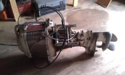 I have a 1955-1958 Mercury Mark 55 Thunderbolt 2 cylinder engine with gas tank and controls. Hasn't ran for 30+ years but is not seized up, has good compression. Has always been stored inside. It is a pull start and 40HP. Asking $250 or best offer.