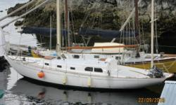 The Nugget Yawl sailboat (39 ft) was built 1957 in Copenhagen, Denmark for an American owner in New York city. She spent most of her life in New York then moved to Los Angeles. Our boys bought it and trucked to Everett, Washington then sailed to